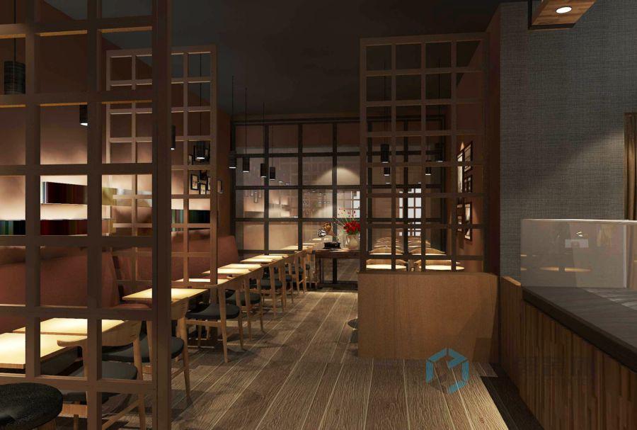 鲜五海雅咖啡厅装修设计案例
