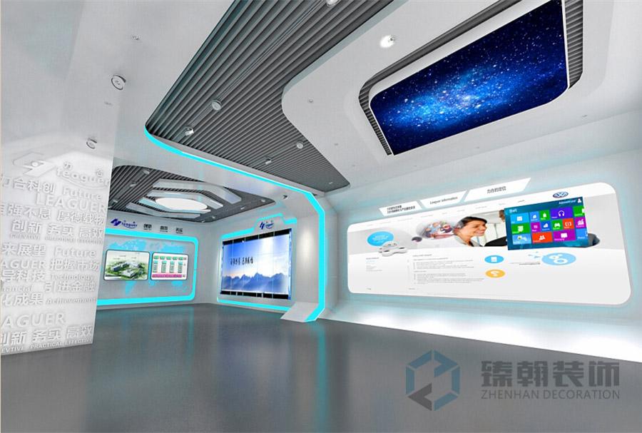 力合科技展厅装修设计案例