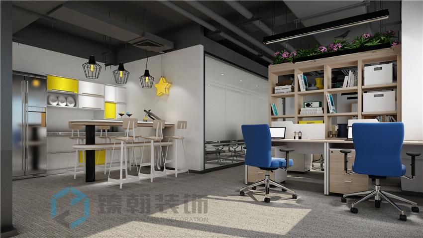深圳办公室装修-联盒宠物办公室效果图